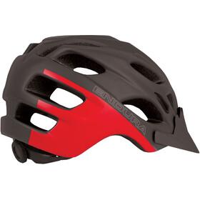 Endura Hummvee Kask rowerowy Dzieci szary/czerwony
